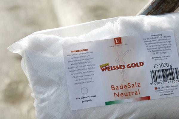 WEISSES GOLD® Badesalz neutral 1000g