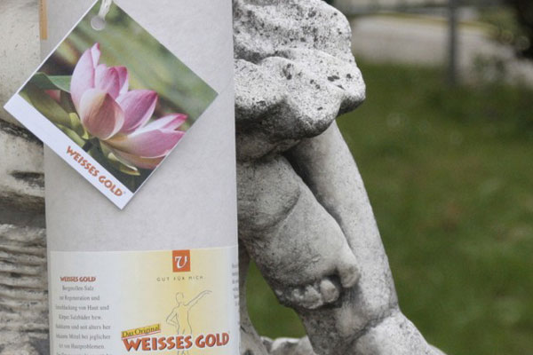 WEISSES GOLD® Badesalz Lotus 800g